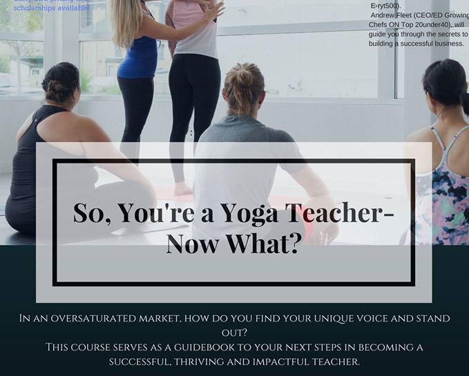 So You're A Yoga Teacher – Now What?